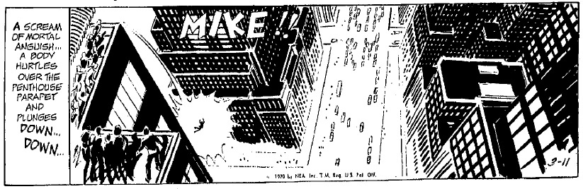 """March 11, 1970 (with """"RIP RM"""" encoded into the strip and Mike's name called out)"""