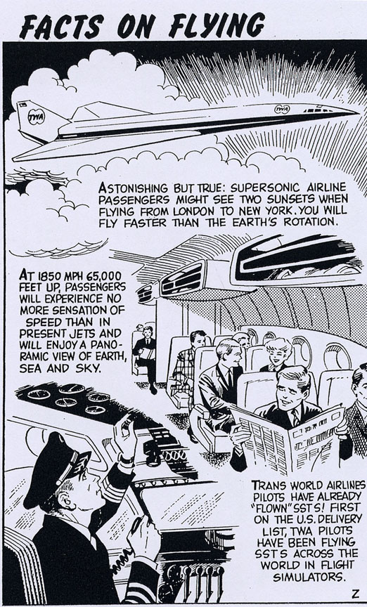 One of the hundreds of commercial and informative pages Eisman did for various magazine and newspapers over the years. This one is for Trans World Airlines. In each one, he did pencils, inks and lettering (click to enlarge).