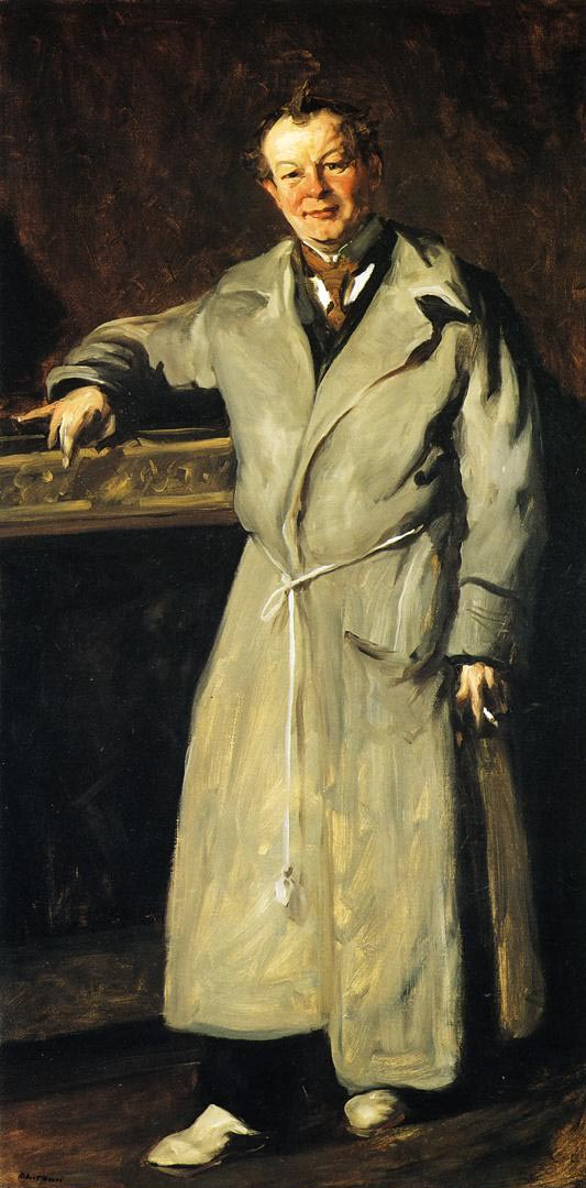 A 1904 portrait of Luks by Robert Henri.