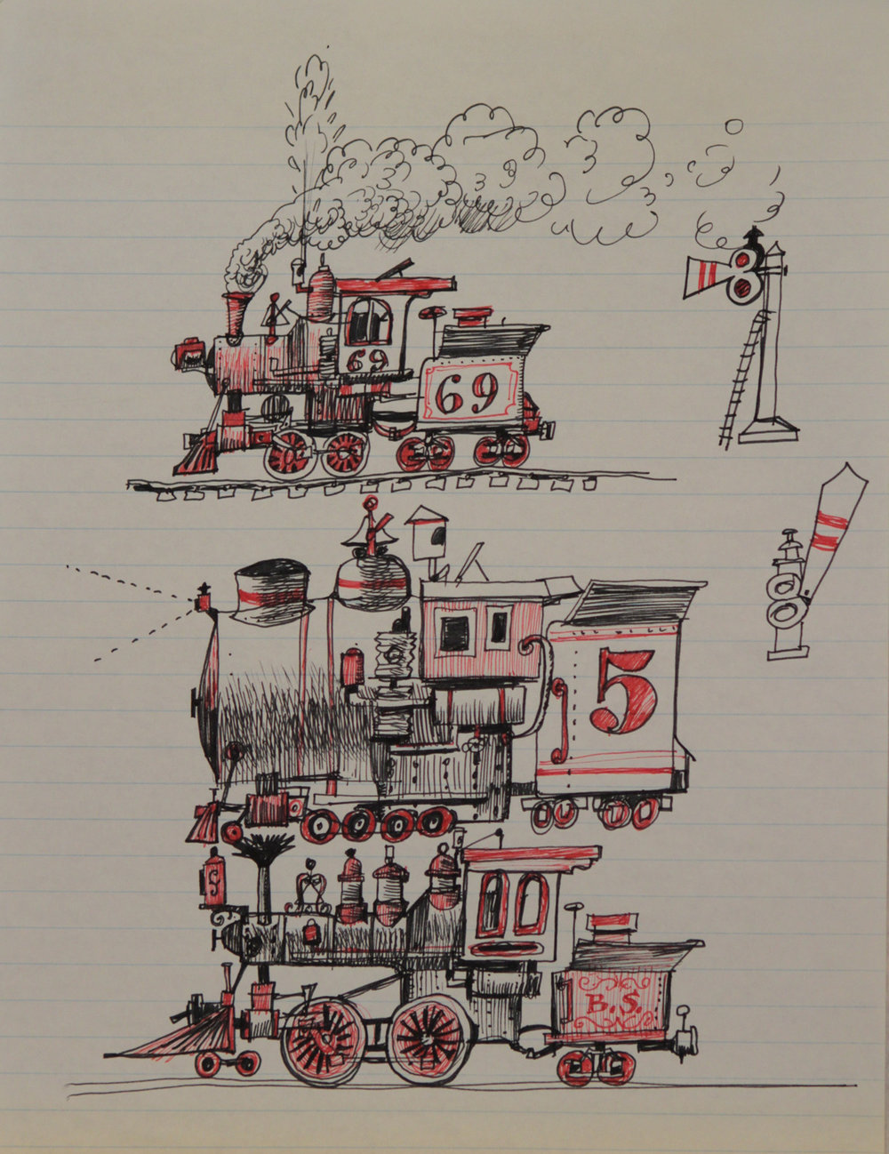 Some Kimball train sketches.
