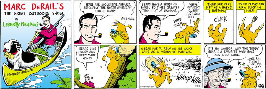 """Cho's parody of """"Mark Trail"""" (click to enlarge)"""