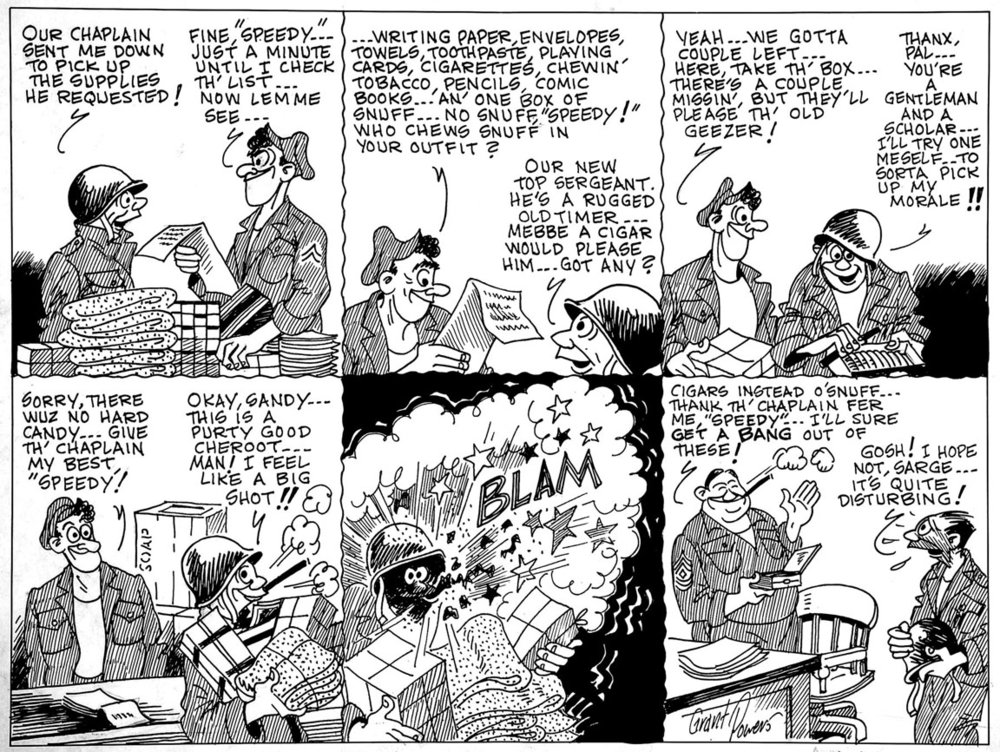 A Grant Powers military cartoon