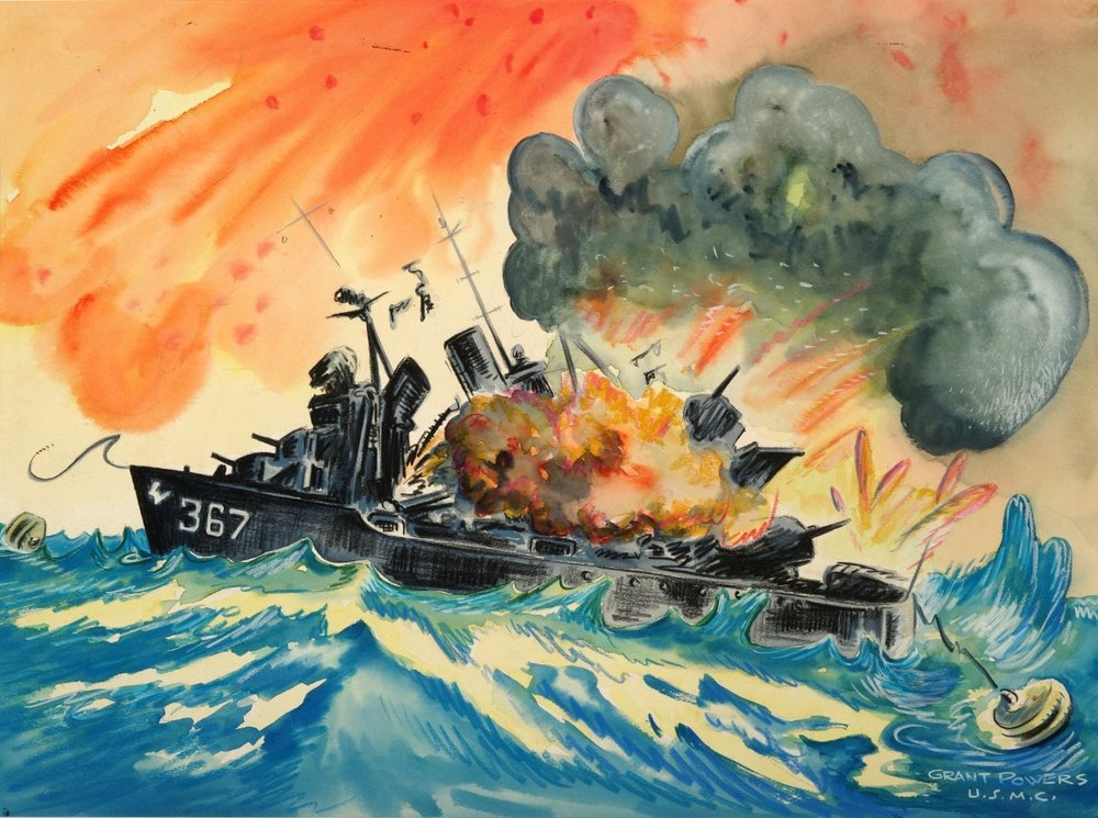 Explosion on DD-367