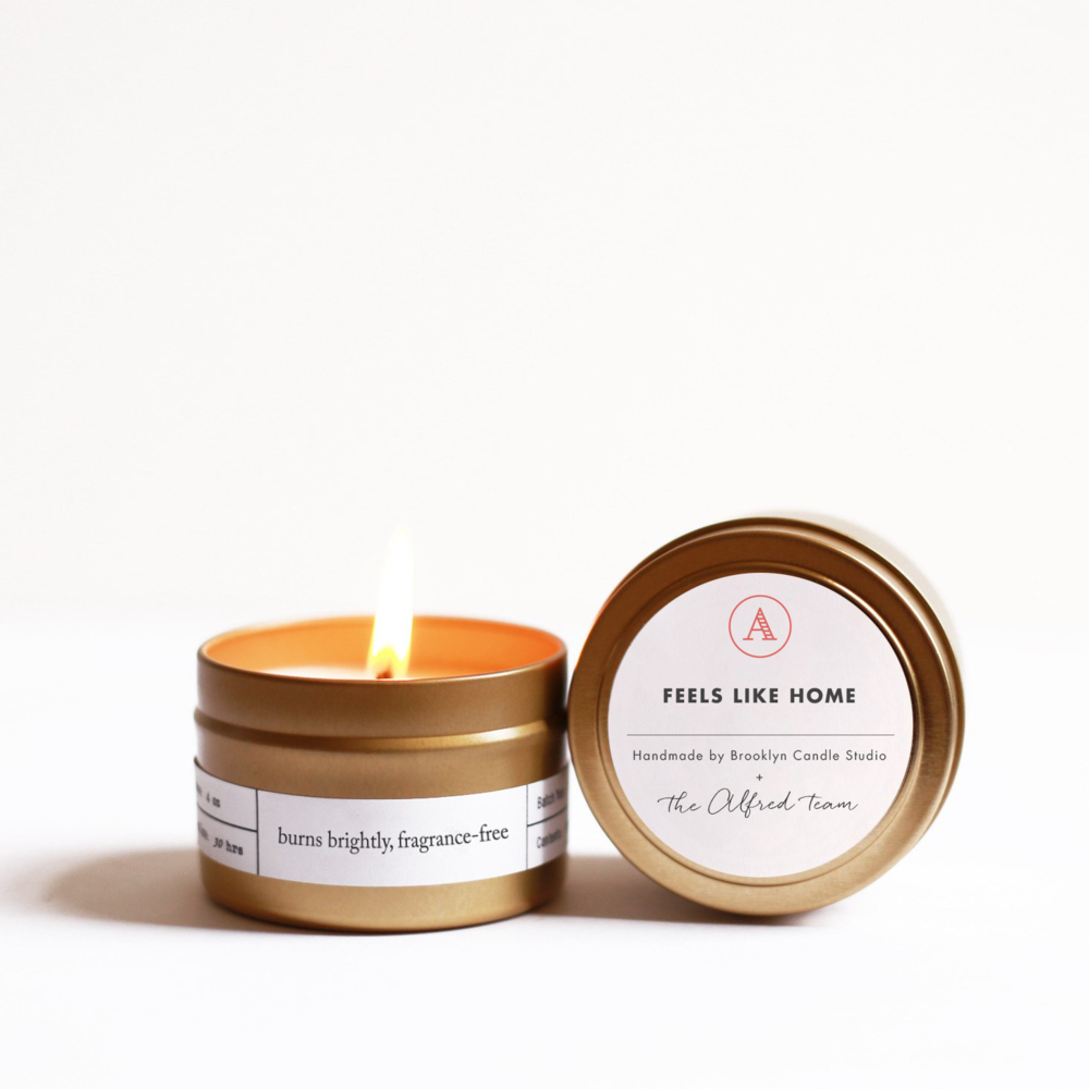 """Feels Like Home"" Tin Candle"