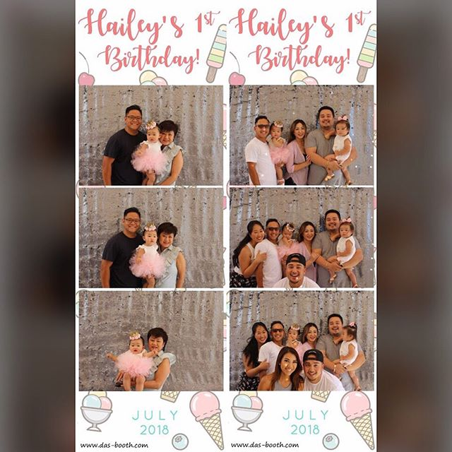 Happy 1st birthday to Princess Hailey! Thank you for having us at your ice cream themed party! #weallscreamforicecream #dasbooth #birthday #photobooth