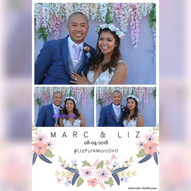 Thanks for letting us be part of your special day Liz & Marc. And thank you @teamfateems for the awesome #LizPutAMarcOnIt props! #dasbooth  #wedding #photobooth