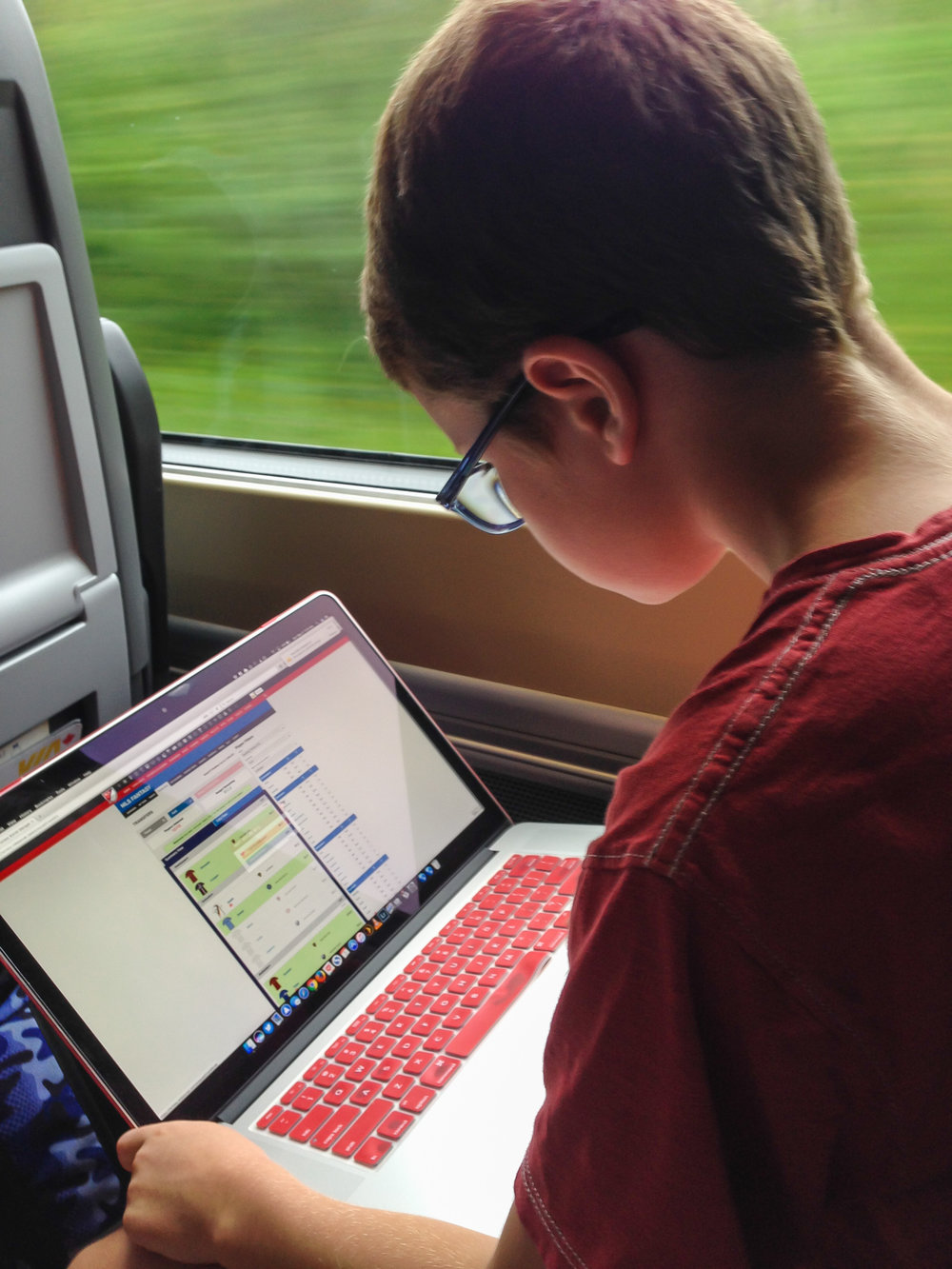 MLSFANTASY4KIDZ homework, on the train to see Toronto FC in 2017. That season turned out just fine.  ★