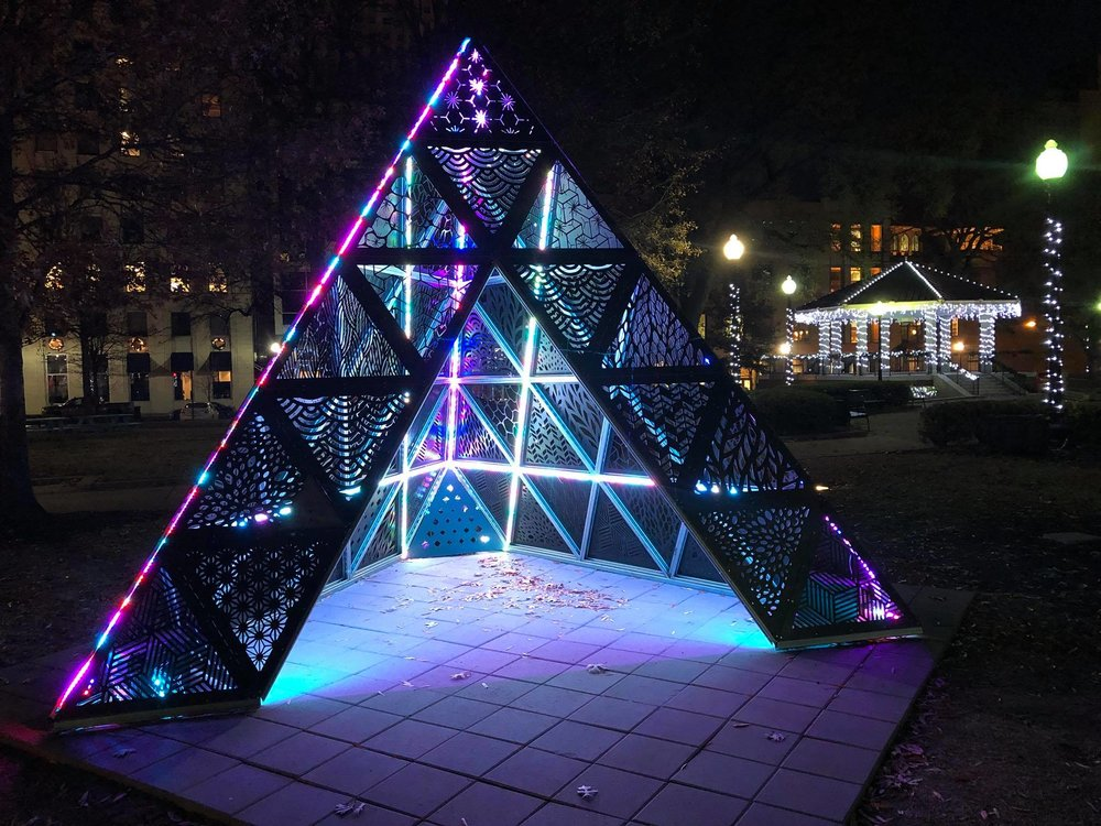 MOD 1 Tetrahedron by Christopher Reyes in Court Square Downtown Memphis, TN