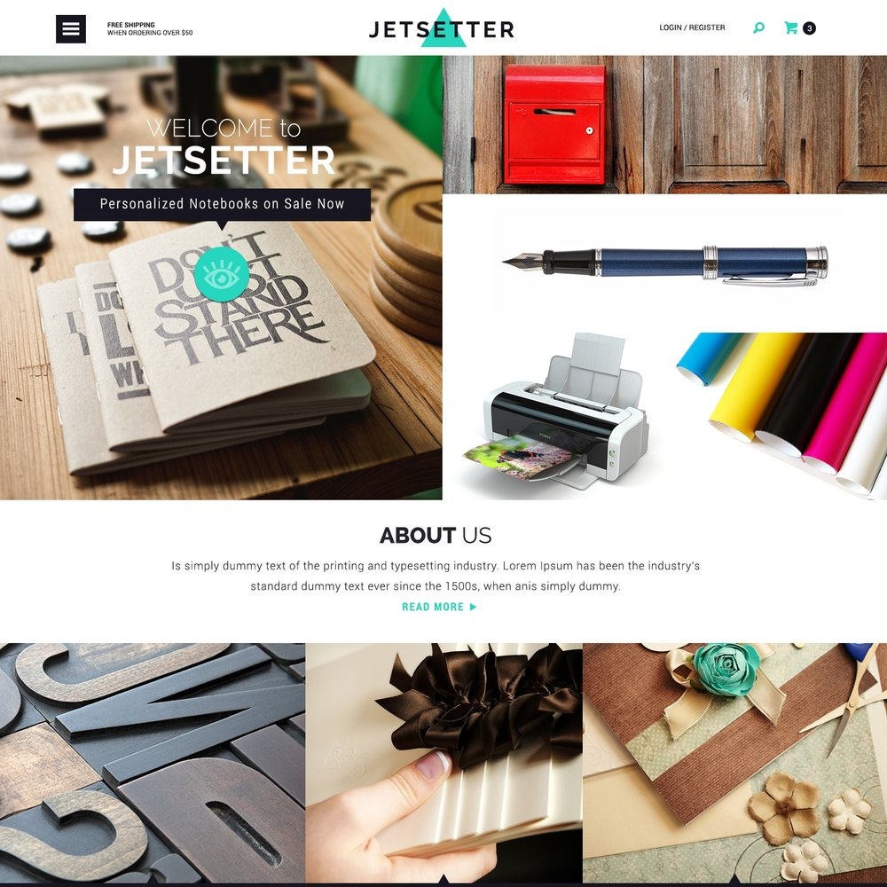 Volusion Template - Featured on AIGA.org