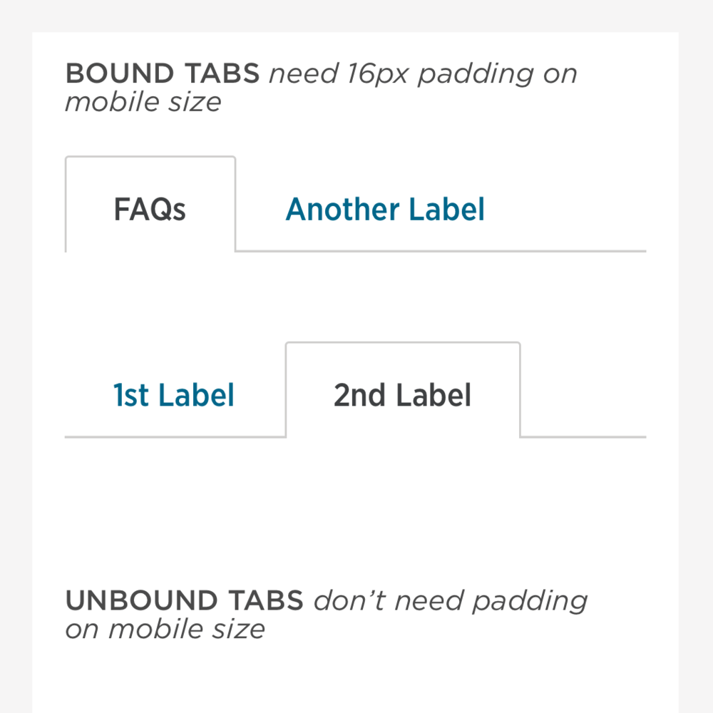 Tabs - bound and unbound tabs