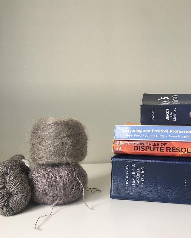 "My Sunday morning view ... . Reading vs dream knitting! I'm excited about my new study adventure but I have a feeling there is a lot more ""dream knitting"" in my future - that semester one reading list is long! . These three yarns go so perfectly together, I definitely fancy knitting them into a simple wrap for my upcoming Edinburgh trip. Not sure how feasible it is though. . Such a dreamy combination of textures. Mohair / silk and alpaca / silk and linen from @woollenflower with some sheepy single ply Norwegian wool gifted to me by @trulymyrtlephotos ... . Wishing you a restful weekend wherever you are 💕 . #knitsharelove #knitsharelovegoesbacktouni #dreamknitting #knittingismylovelanguage"