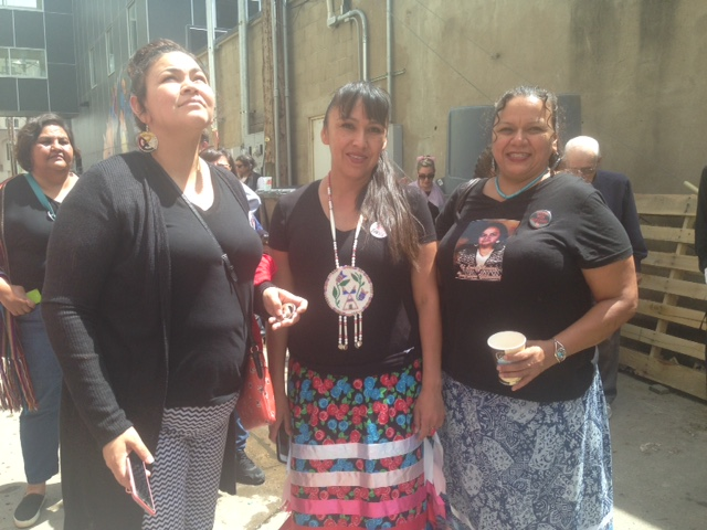 Red Fawn's sisters Loma, Arrow and Wendy  traveled to support their sister today.
