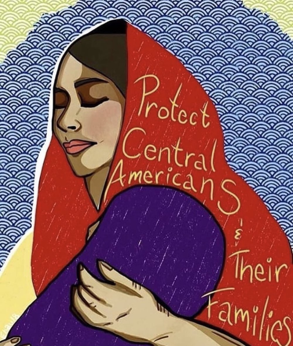 "Art by: @skull_estefania1 - Instagram  ""Protect Central Americans and their families"""