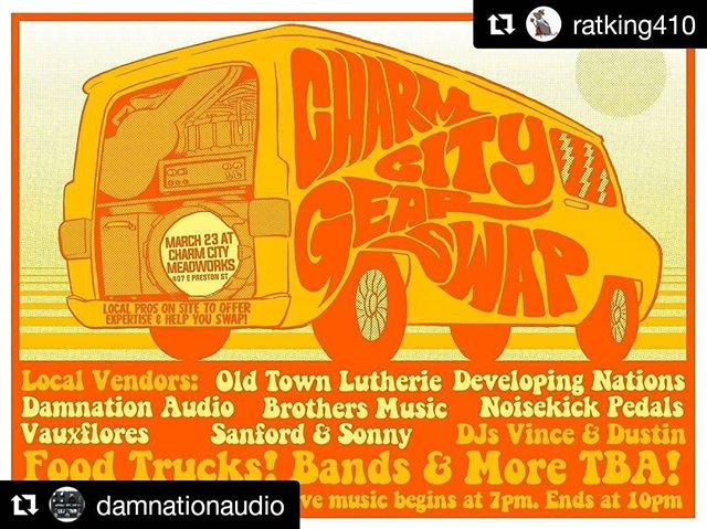 Tomorrow!  #Repost @damnationaudio (@get_repost) ・・・ March 23rd.  Come hang with me and my friends!