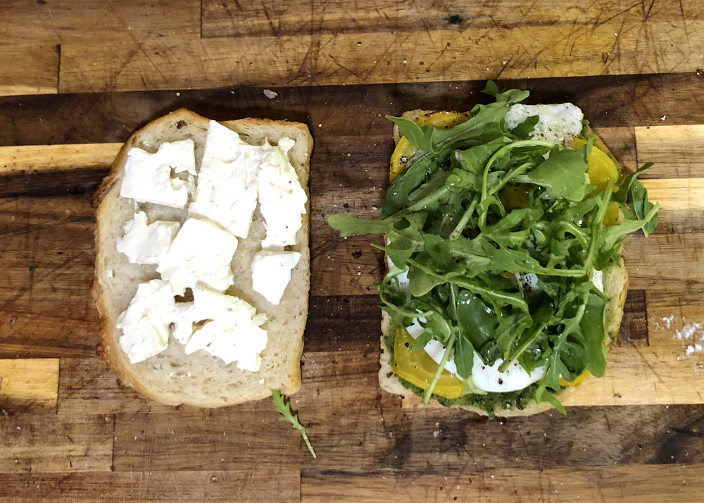 golden beet vegetarian sandwich recipe