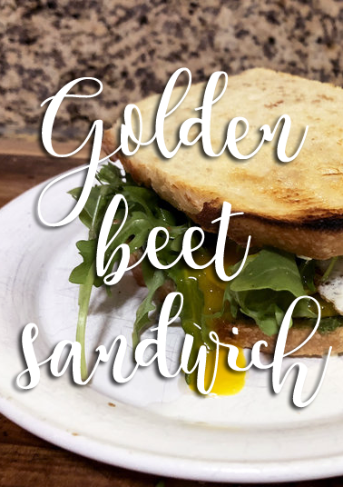 golden beet sandwich vegetarian recipe