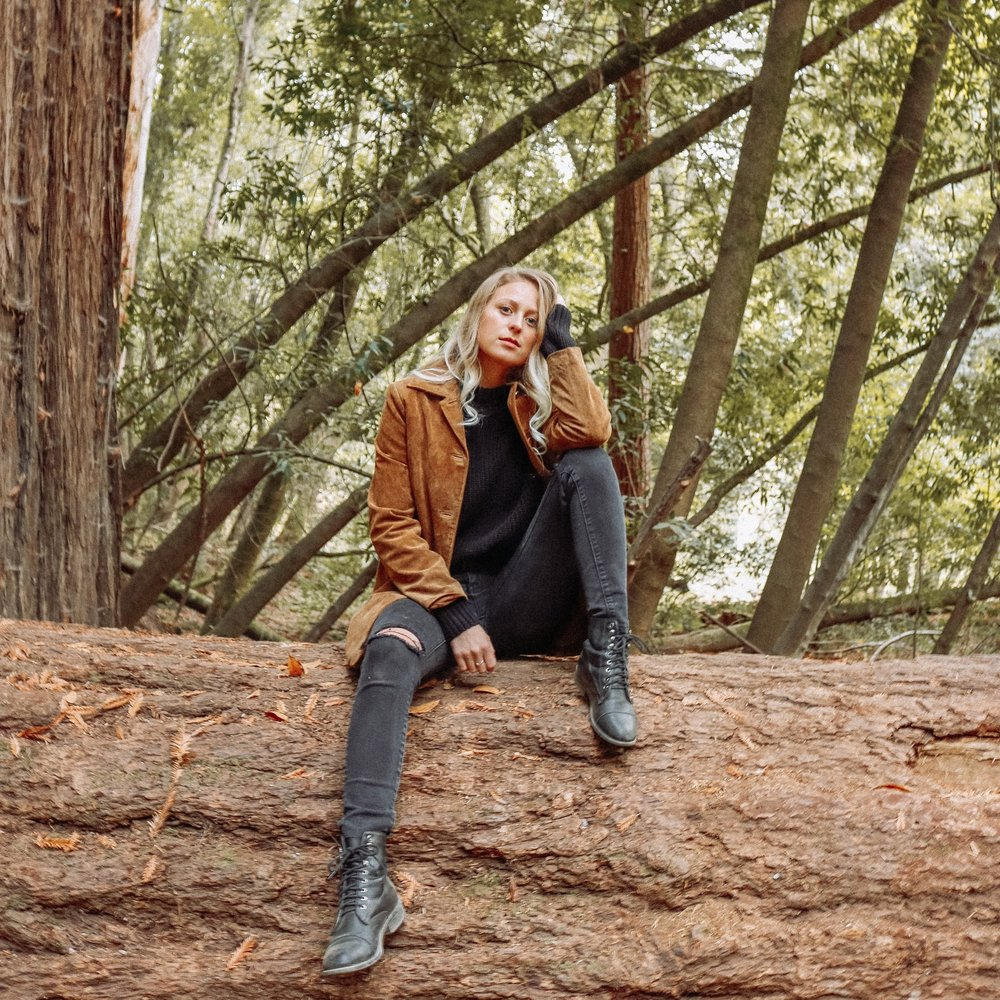 Thrifted rust suede coat – Kessler Ramirez