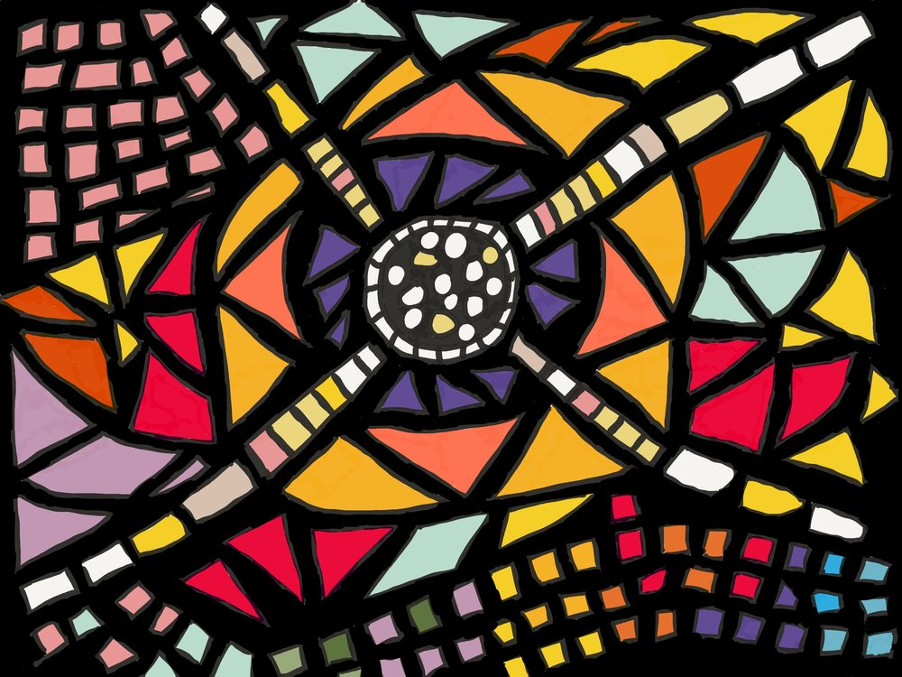 'Leonard', inspired by the Leonard French stained-glass windows at the National Library of Australia