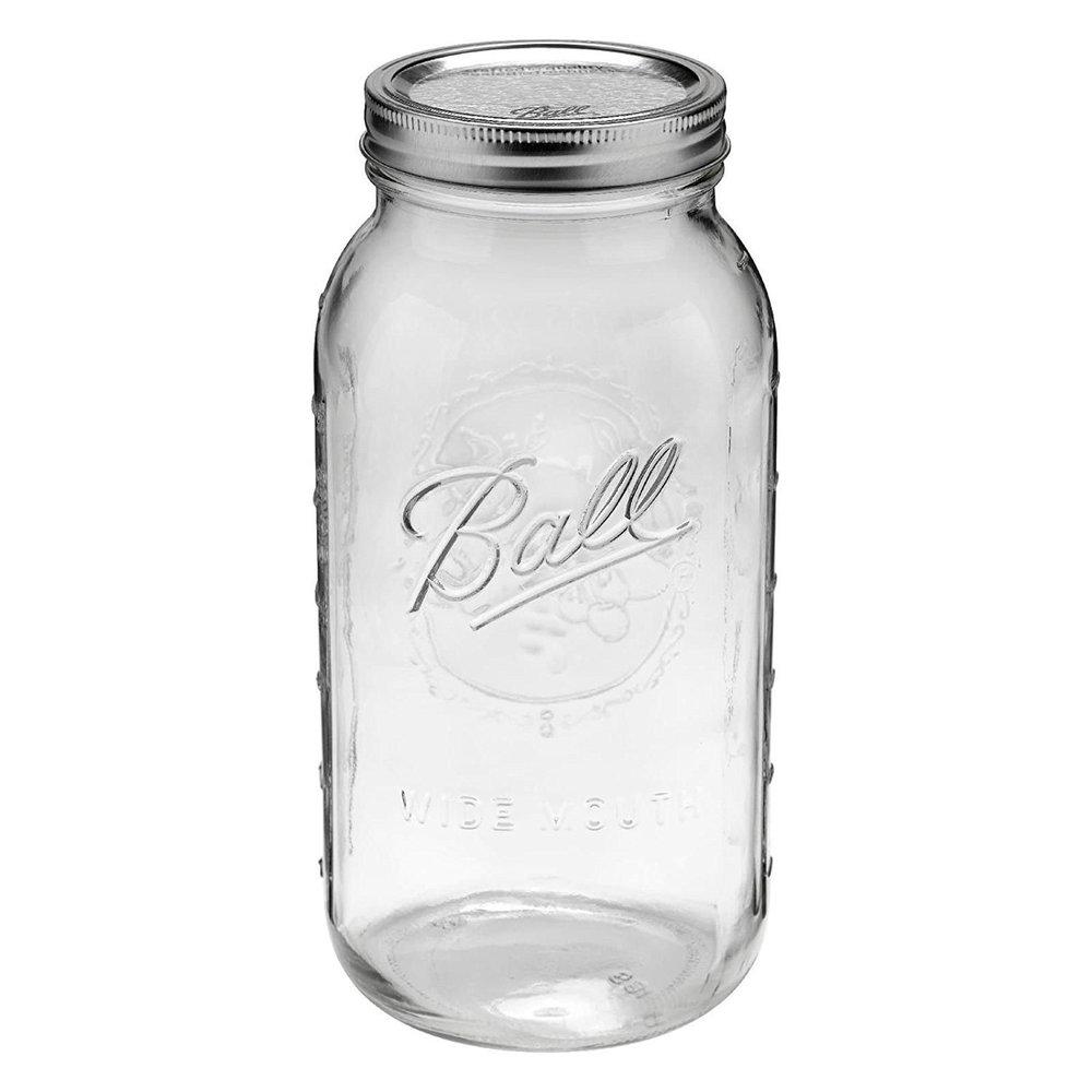 2 Liter Glass Mason Jar