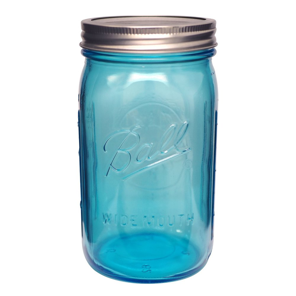 1 Liter Glass Mason Jar