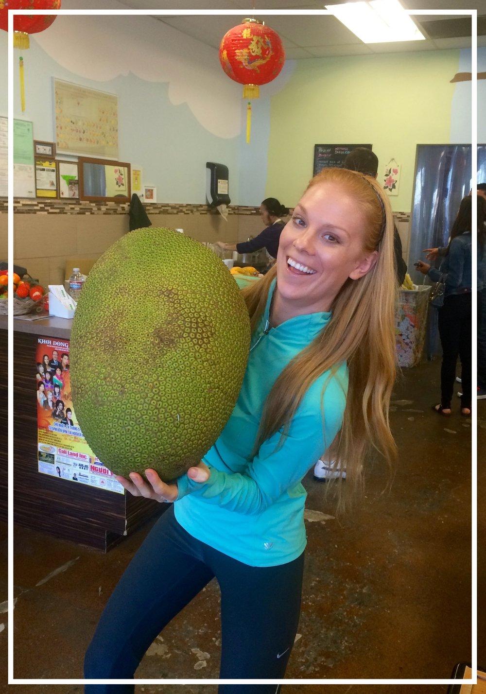 A 40 pound jackfruit!