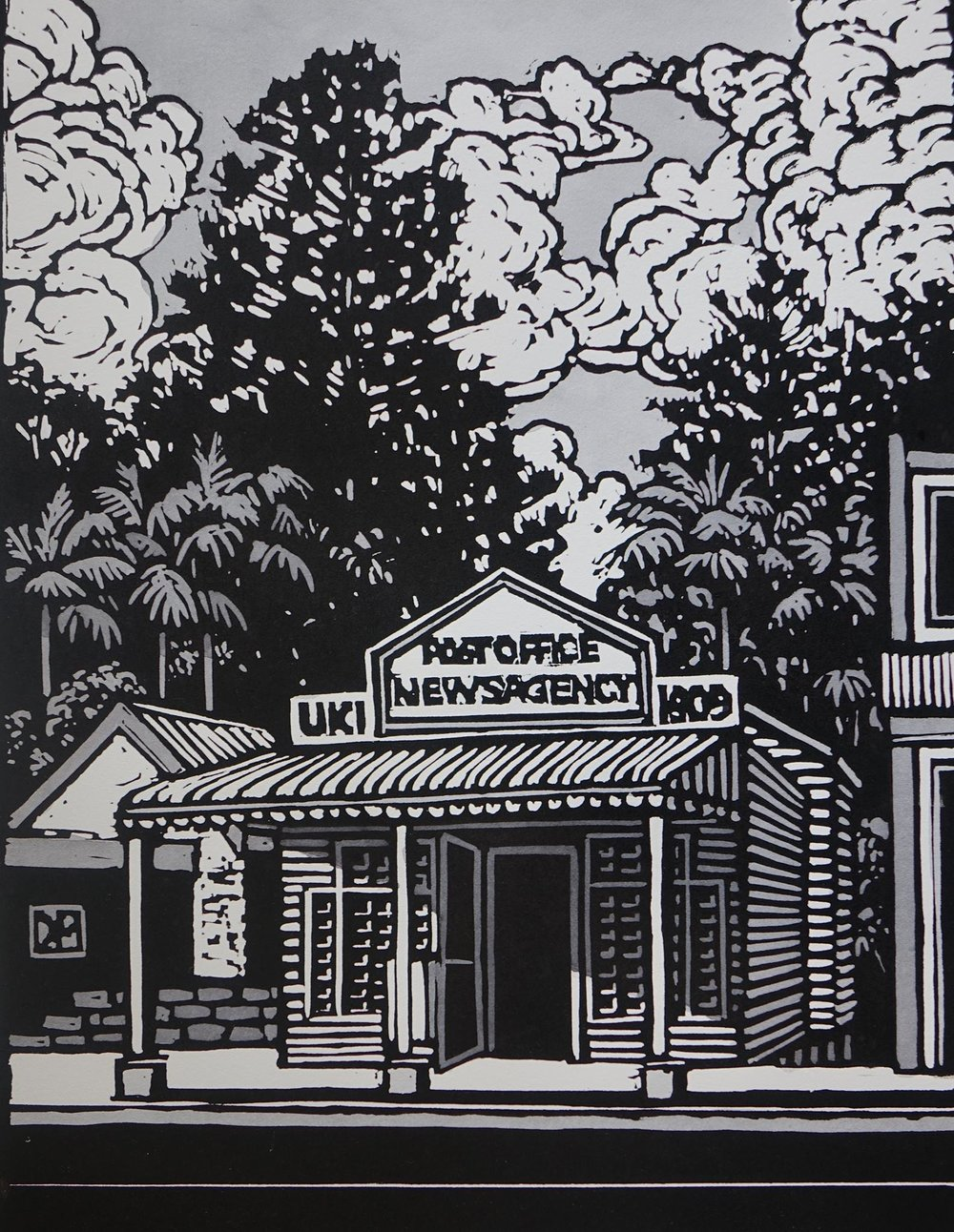 David Preston's - Painting of the Post Office. Copyright D. Preston 2018