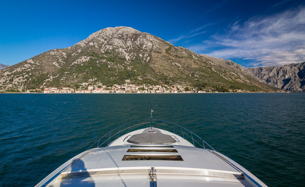 TOWN OF PERAST AS SEEN FROM YACHT