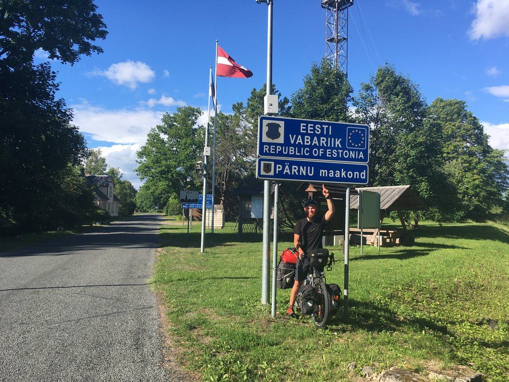 Crossing into our 9th country, Estonia.