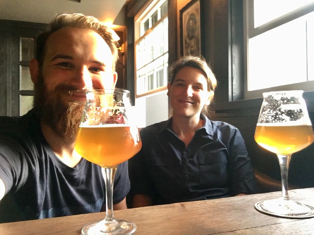 We happened to find the most English pub in Moscow: The Pig and Rose. It was London prices, too. We got two 400ml Punk IPA for £9. Put a smile on our faces though!
