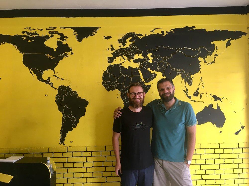 Dan, Basil and The World.
