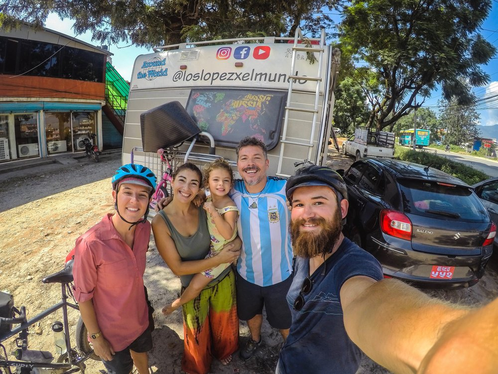 On the way to Shivapuri, we were flagged down at the side of the road by an inspiring Argentinian family. The Lopez's are half way through a four year round the world trip in their camper van. Starting in Spain, they've drove to Nepal, via Iran and Pakistan. Follow their adventures  here .