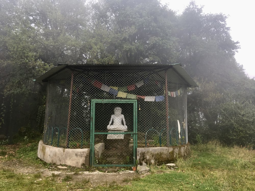 At Shivapuri Peak, there's a statue of Shivapuri Baba is a Hindu saint. Only after living on Shivapuri Peak for more than 25 years did he become known as Shivapuri Baba. During his life, he supposedly encircled the world entirely on foot. Having walked to England, he met with Queen Victoria, making him the first Indian holy man to meet the Queen. He's also supposed to have lived until the astonishing age of 136. He died in 1963, we know that for certain, but his birth year of 1836 is unsubstantiated.