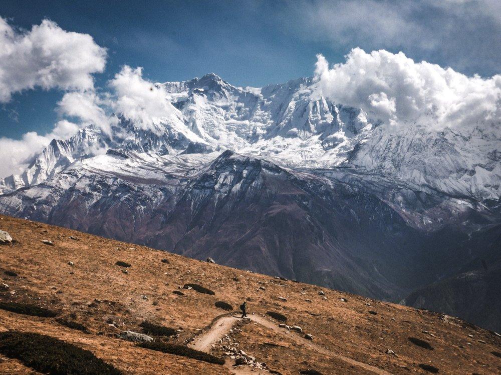 The Himalayas stretch 2,400km through Pakistan, India, Nepal, Bhutan and China.