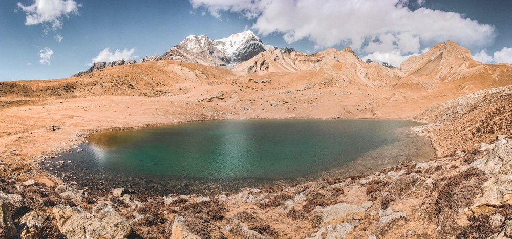 Kicho Lake (Ice Lake), 4,600m. This was where we walked for our acclimatising walk.