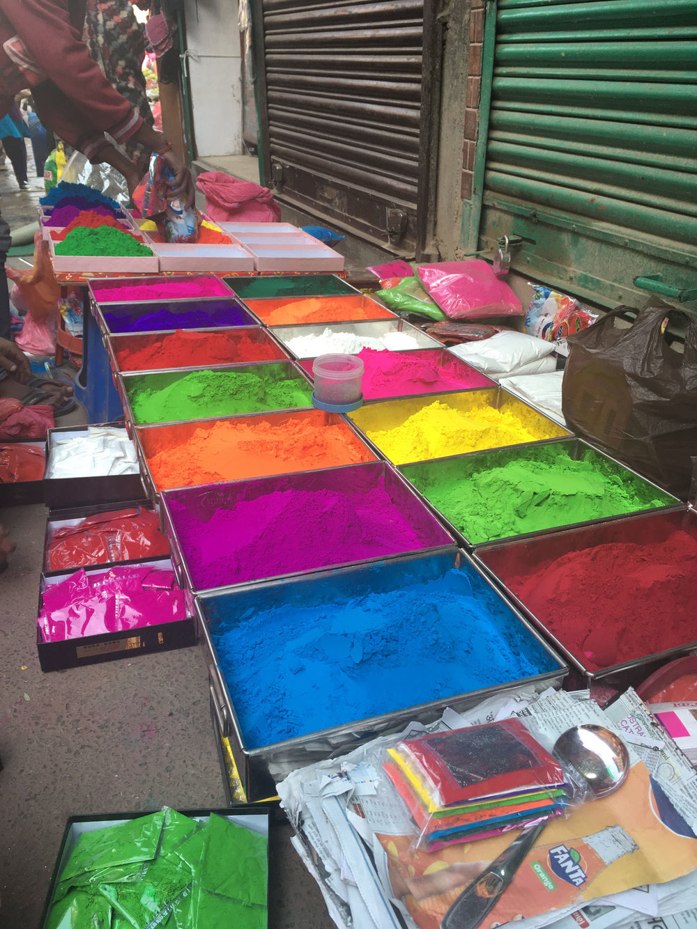 Colourful Diwali preparations.