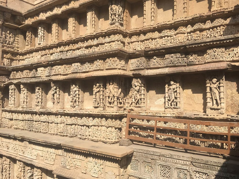 There are over five-hundred sculptures in Rani Ki Vav.