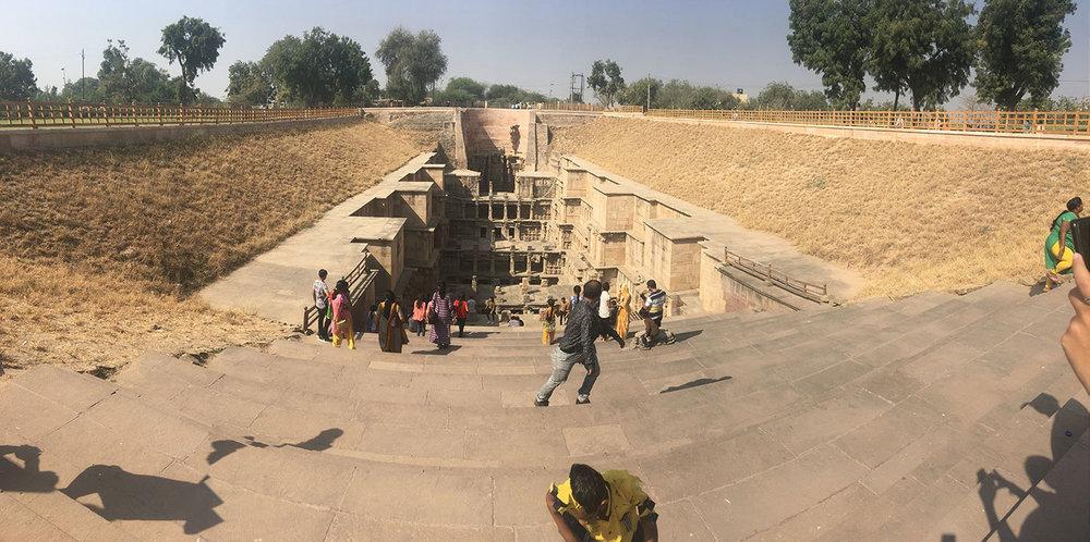Rani Ki Vav from ground-level.