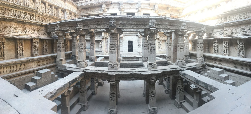 Deep down in the stepwell.