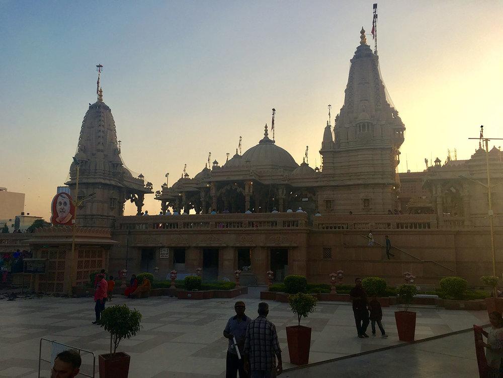 On our rest day in Rajkot we visited BAPS Shri Swaminarayan Mandir at sunset.