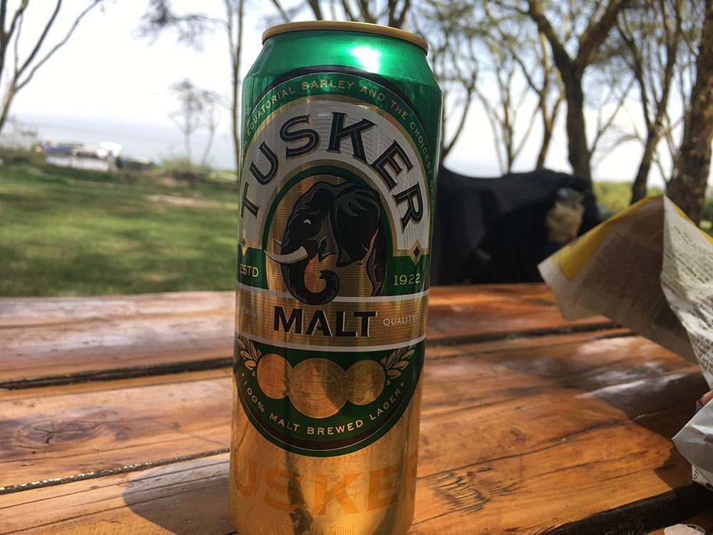 Of course we've already indulged in the local wares.  Tusker  was recommended by Dan's Dad, who taught in Nigeria in the 80s and got to know the local brews very well. Coincidently Dan's Mum also taught in Nigeria about the same time, but not together.
