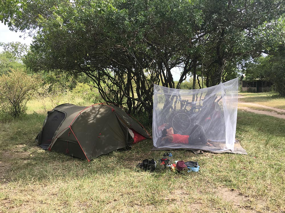 Dan, ever the handyman, made a fantastic bug-free outdoor seating area with our mozzy net. Maasai Mara, or simply Mara as locals affectionately call it, is apparently rife for malaria, so we were extra careful.