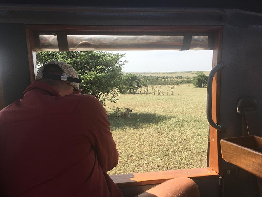 There were heaps of safari cars parked around the lions, but all other animals we saw, it was just us.
