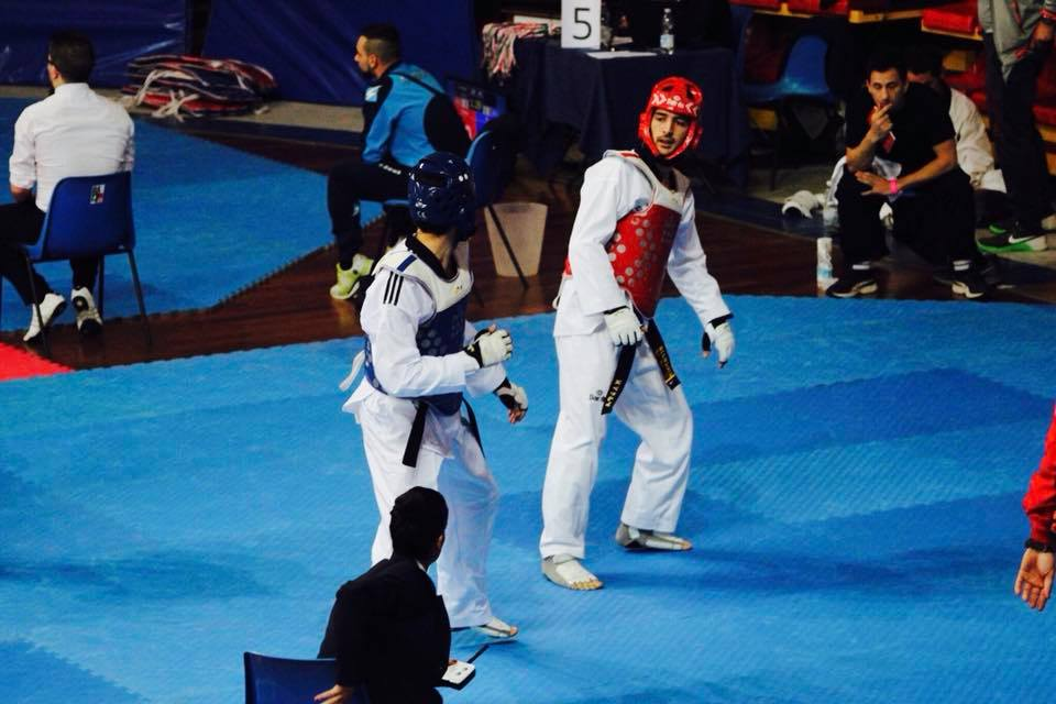 Figure 1  - A typical taekwondo contest taking place (Insubria Cup, Italy, 2017)