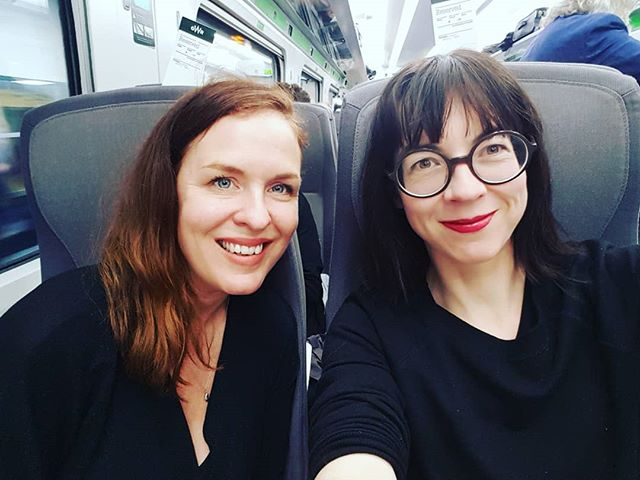 On our way to #Waterstones #Bristol to talk about our #remarkablewomen at the Bristol Festival of Ideas. ⚡
