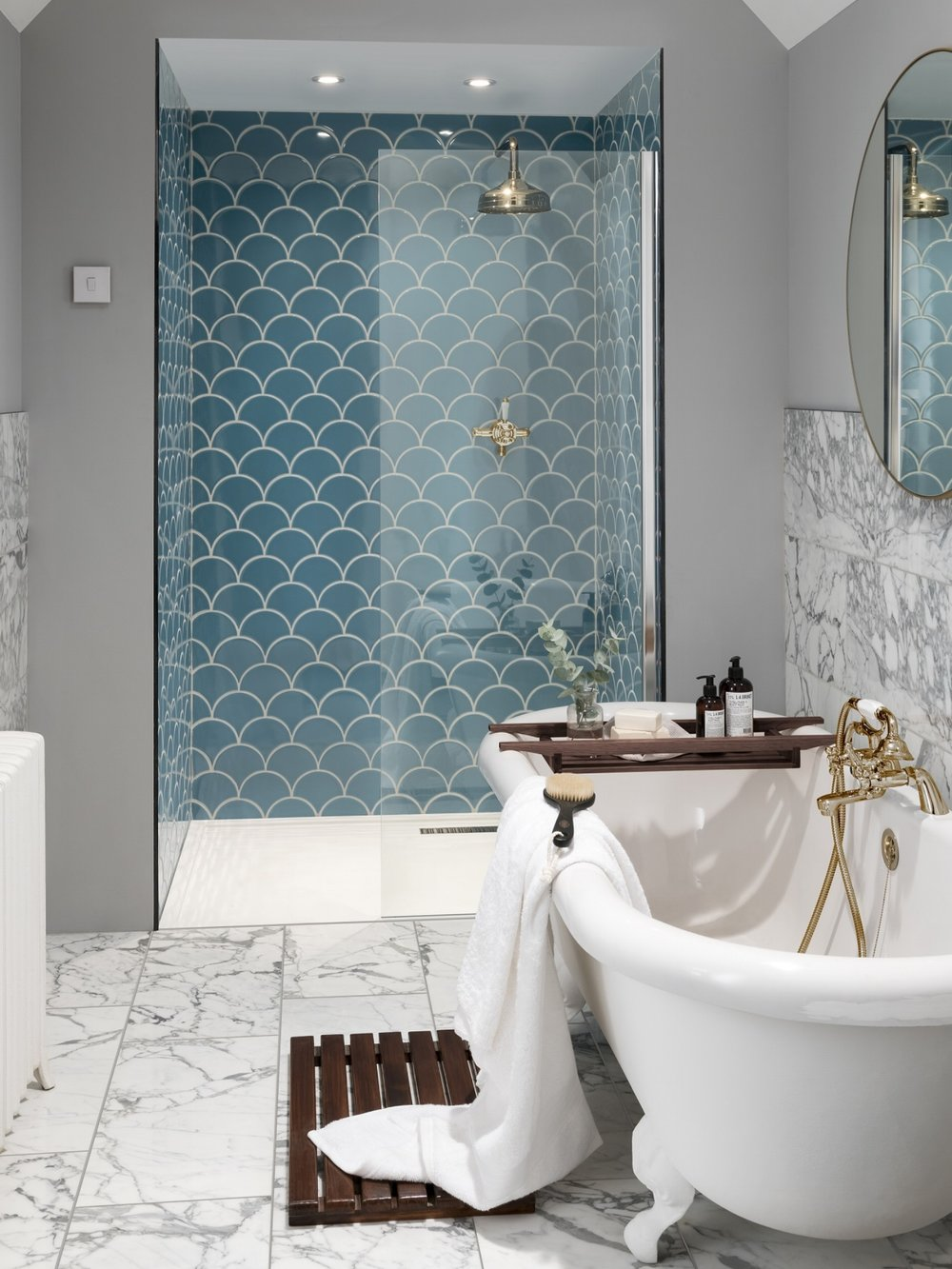 Syren Tiles in Nordic Blue by Topps Tiles