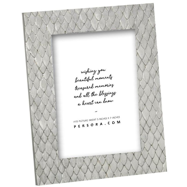 Pale Gold Patterned Detail Picture Frame