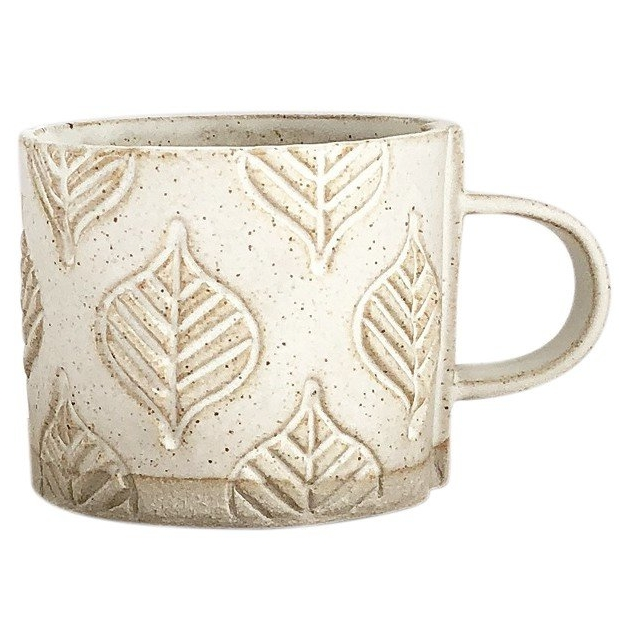Leaf Stoneware Mug