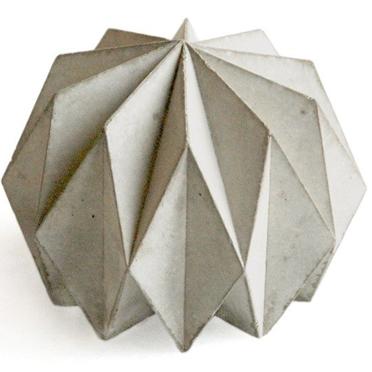 Origami Concrete Paperweight.
