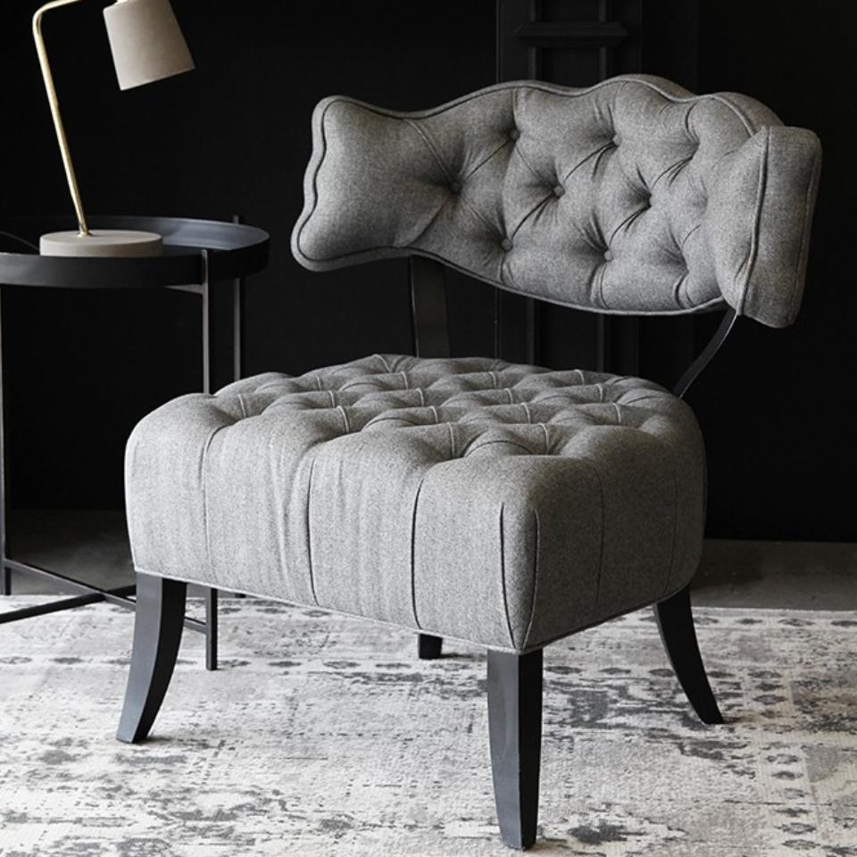 Cloud Herringbone Tweed Chair
