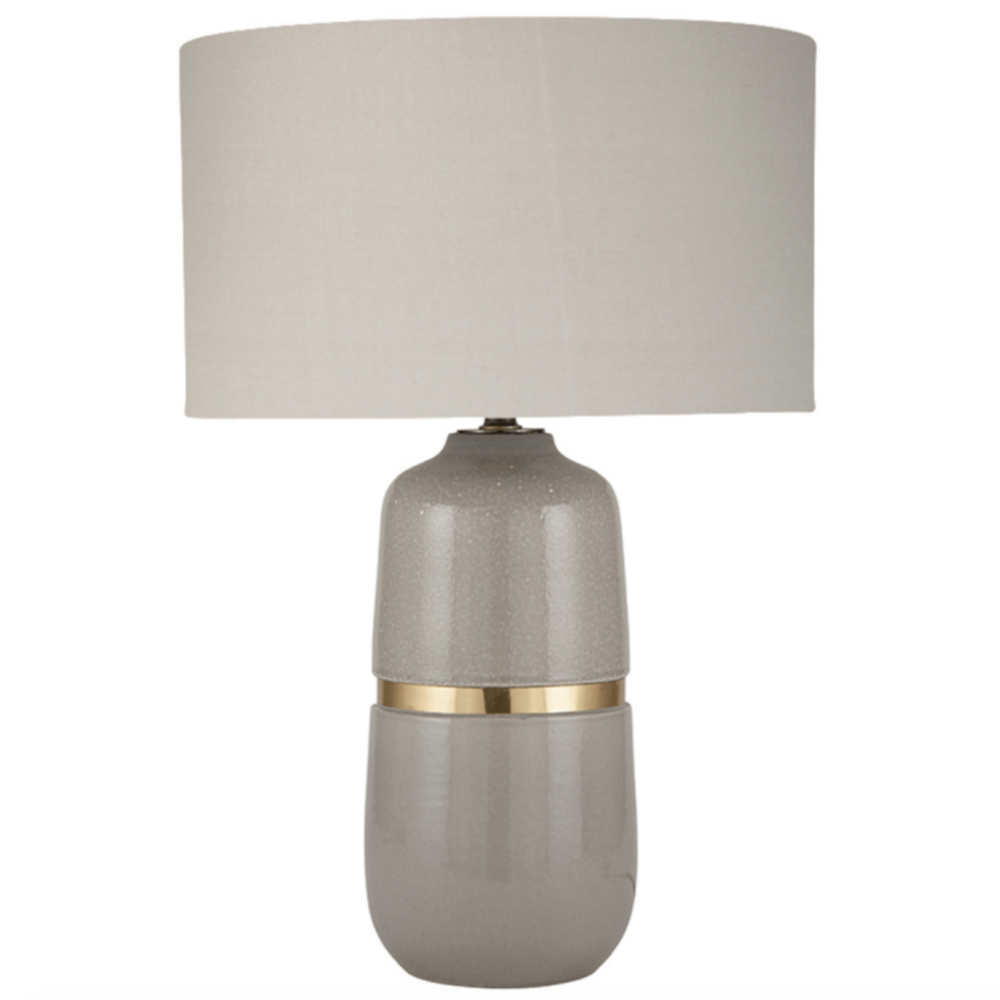 Banded Ceramic Table Lamp